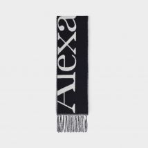 Scarf Ribbon Oversize in Black Cashmere