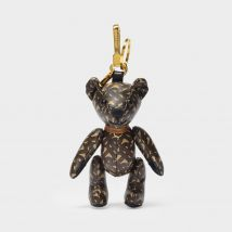 Key Chain Thomas Monogram in Bridle Brown Leather