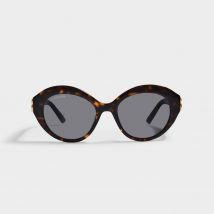 Round Shaped Sunglasses in Havana Brown