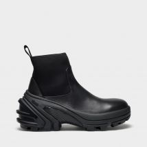 Mid Boot Ankle Boot in Black Leather
