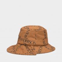 Asymmetric Bucket Hat in Yellow Canvas