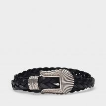 Thin Kim Belt in Black Leather