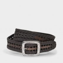 Braided Belt in Brown Leather