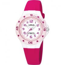 Lorus R2339DX9 Chidrens Analogue Watch - Pink with White Dial