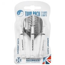Harrows Twin Pack Dart Flight/Shafts - White