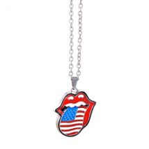 The Rolling Stones - USA tongue Necklace