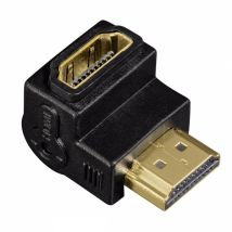 Hama HDMI M/F 270 ° – (HDMI Cable Adapter, HDMI, MALE/FEMALE, BLACK)