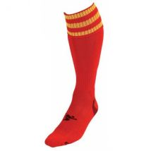 PT 3 Stripe Pro Football Socks LBoys Red/Yellow
