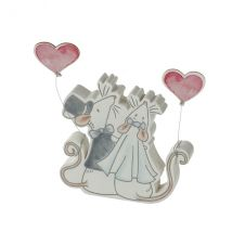 Mr & Mrs Mouse With Heart Balloons Decoration Wedding Keepsake Gift By Heaven Sends