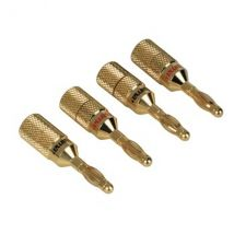 Hama Audio Speaker Adapter banana plug set of 4