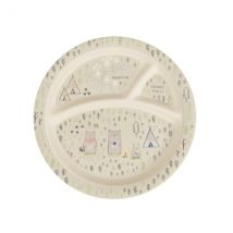 Sass & Belle Bear Camp Bamboo Kid's Plate