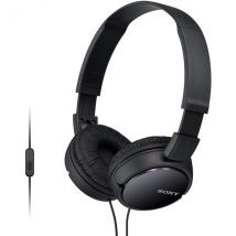 Sony MDRZX110APB Over Ear Sound Monitoring Headphones with Smartphone Mic & Control - Black
