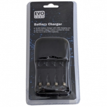 Evo Labs Ni-MH AA & AAA Battery Charger with USB Charging Port UK Plug