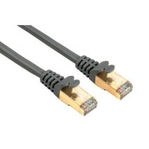 Hama CAT 5e Network Cable STP, gold-plated, shielded, grey, 0.25 m