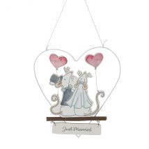 Mr & Mrs Mouse Just Married Decoration Wedding Keepsake Gift By Heaven Sends
