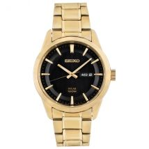 Seiko SNE368P9 Solar Movement Gold Plated Stainless Steel Bracelet Watch