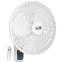"Sealey Sealey SWF16WR 16"" 3-Speed Wall Fan with Remote Control"