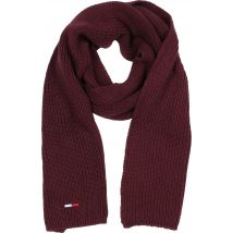 Tommy Jeans Basic Flag Rib Men's scarf maroon