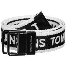 Tommy Jeans Mini Logo Tape Women's belt white black, 85
