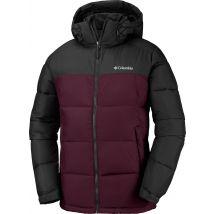 Columbia Pike Lake Hdd Men's winter jacket black maroon, XL