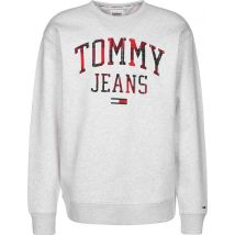 Tommy Jeans Plaid Graphic Men's sweater grey heather, XL