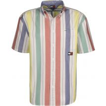 Tommy Jeans Summer Stripe Men's short-sleeved shirt white striped, L