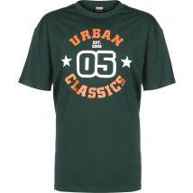 Urban Classics College Print Men's t-shirt green, XL