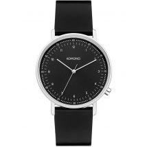 Komono Lewis watch black silver, One Size