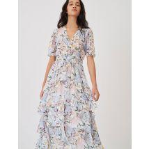 Vestido Asimétrico De Muselina Estampada - T36 - - Maje