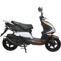Scooter 50 cc 4T R8 blanc/ noir thermique Eurocka