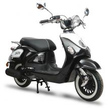 Scooter thermique 50 cc³ 4T Fifty noir brillant Eurocka