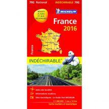 Carte de France indéchirable 2016 Michelin