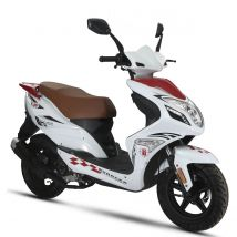 Scooter thermique 50 cm³ 4T Euro 4 CKA R8 blanc/ rouge brillant Eurocka