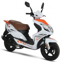 Scooter thermique 50 cm³ 4T Euro 4 CKA R8 blanc/ orange brillant Eurocka