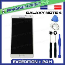 VITRE TACTILE + ECRAN LCD ORIGINAL SAMSUNG GALAXY NOTE 4 BLANC SM-N910 + OUTILS