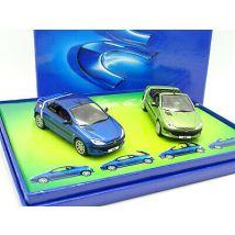 Norev 1/43 - Coffret Peugeot 206 CC Verte et Bleue