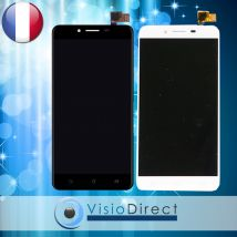 """Ecran complet pour Asus Zenfone 3 Max ZC553KL 5.5"""" blanc/noir vitre tactile+LCD"""