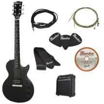 Maestro by Gibson Electric Guitar with Amp Pack - Black.