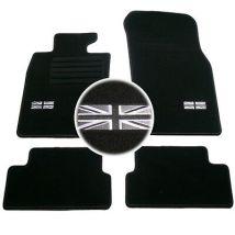 4 TAPIS SOL MINI 2006-2014 R56 COOPER & S & D MOQUETTE LOGO FLAG UK SPECIFIQUE