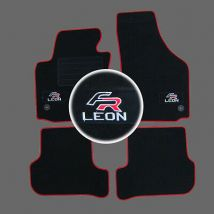 4 TAPIS SOL SEAT LEON 2 1P 1.9 2.0 MOQUETTE LOGO FR + ROUGE SPECIFIQUE