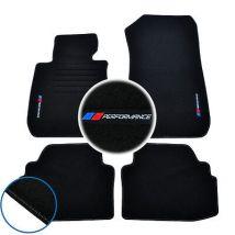 4 TAPIS SOL BMW SERIE 3 E93 CABRIOLET 2006-2014 MOQUETTE LOGO PERFORMANCE M