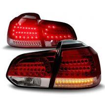 FEUX ARRIERE LED VW GOLF 6 TDi GTi TSi T GTD ROUGE BLANC CRISTAL FUTURE