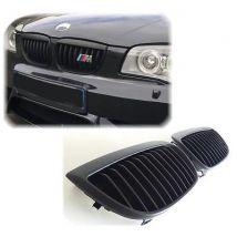 CALANDRE BMW SERIE 1 E87 5 PORTES 2004-2011 PACK M TECHNIC NOIRE HARICOT GRILLES