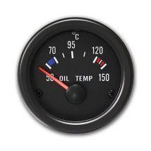 MANOMETRE MANO TEMPERATURE HUILE + SONDE 50°C-150 °C Ø52 YOUNGTIMER RACING