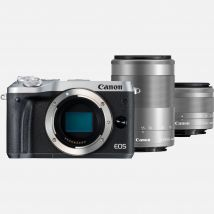 Canon EOS M6 Silver + EF-M 15-45mm IS STM Lens + EF-M 55-200mm IS STM Lens Graphite