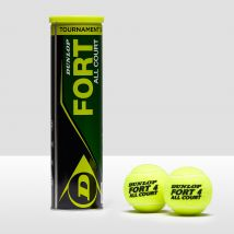 Mens Mid Yellow Dunlop Fort All Court Tennis Balls - 4 Ball Can