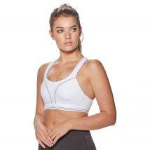 Womens White Shock Absorber Ultimate Run Sports Bra