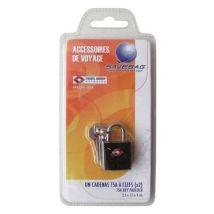 Savebag Cadenas Tsa à 2 clefs en métal Noir