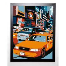 Manzo Giovanni Image encadrée Taxi Ny 57x77 cm Multicolore