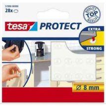 Tesa Pastilles antiglisse et antibruit Ø 8mm Transparentes